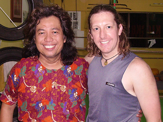 Guru Scott McQuaid with Maha Guru Jak Othman