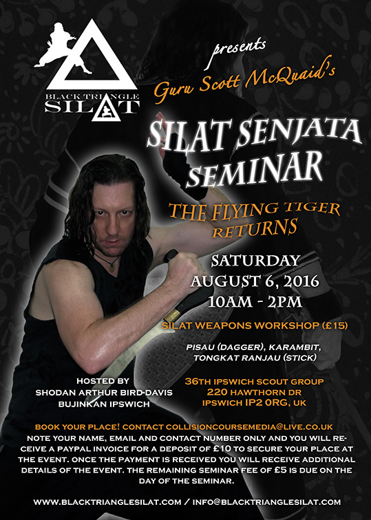 Guru Scott McQuaid's 2016 Silat Weapons Seminar in Ipswich, UK